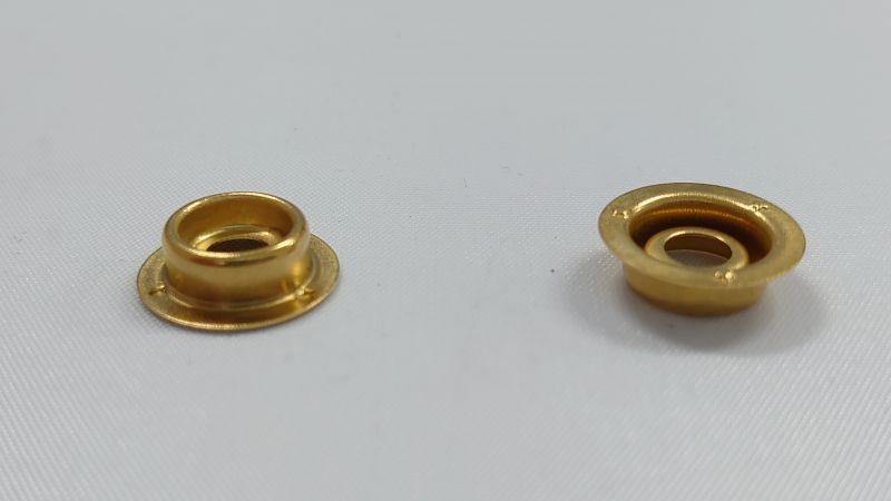 画像1: 【箱入】リングホック#7050 ゲンコ 真鍮製生地 1000組 (1)