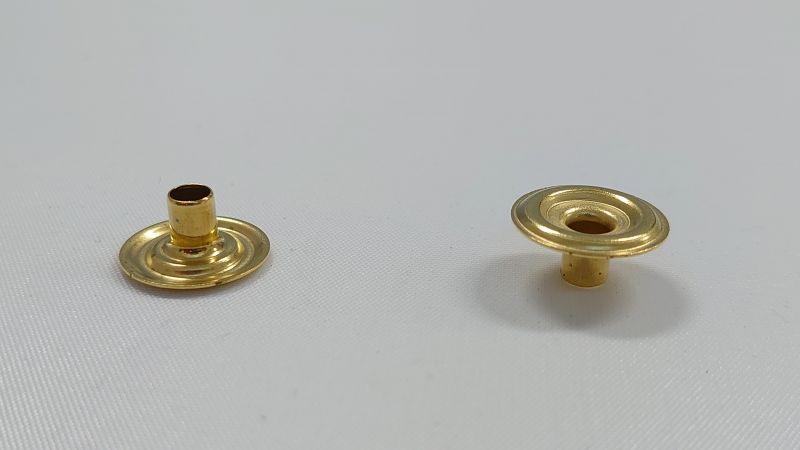 画像1: 【箱入】リングホック#7050 ホソ 真鍮製生地 1000組 (1)
